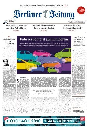Berliner Zeitung 10.10.2018