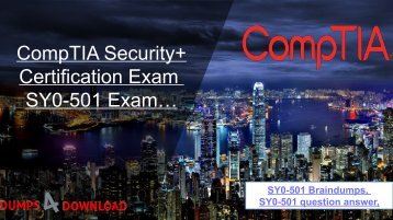 Download Updated Cisco SY0-501 Dumps -  Cisco SY0-501 Exam Study Material