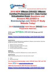 (2018-October-Version)New Braindump2go 2V0-622 PDF and VCE Dumps 507Q Free Updated(494-507)