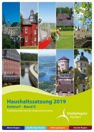 Haushalt 2019 nach der Organisationsstruktur (Entwurf) - Band 2a - gesamt
