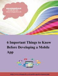 6 Important Things to Know Before Developing a Mobile App