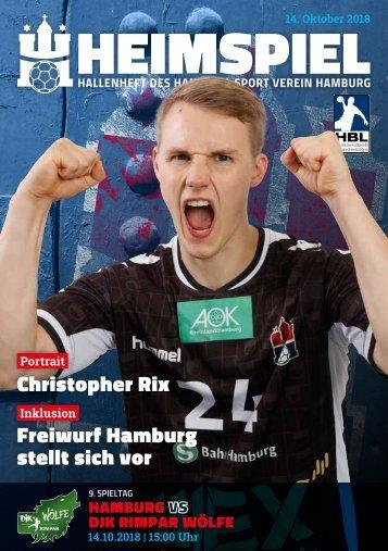 Hallenheft | Handball Sport Verein Hamburg vs. DjK Rimpar Wölfe