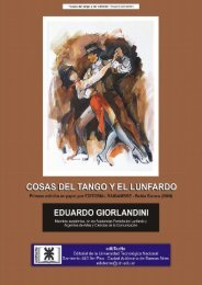 Cosas del tango y del lunfardo - edUTecNe