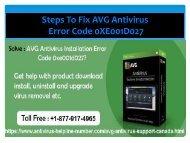 FIX AVG ANTIVIRUS ERROR CODE 0xe001d027