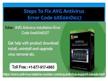 FIX AVG ANTIVIRUS ERROR CODE 0xe001d027