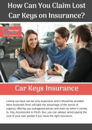Why it is Important to have a Car Keys Insurance?