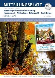 Nürnberg-Worzeldorf/Kornburg/Katzwang  - Oktober 2018