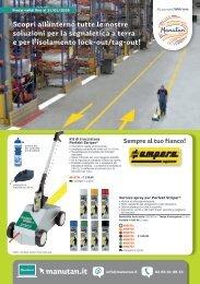 Lock-out/tag-out e segnaletica per magazzino