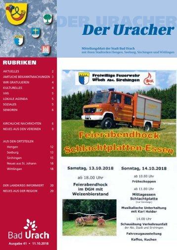 Der Uracher KW 41-2018
