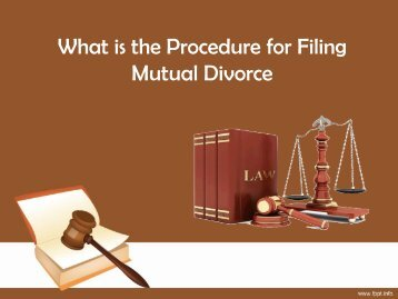 Procedure for Filing Mutual Divorce
