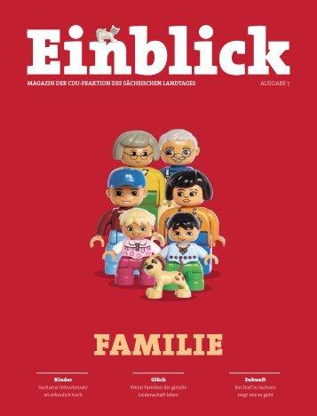 CDU-Magazin Einblick - Thema: Familie