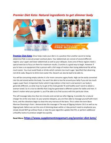 Premier Diet Keto: increases the energy levels into your body