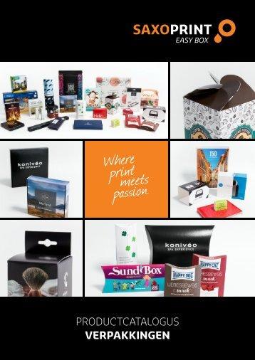 SAXOPRINT Productcatalogus Verpakkingen (nl-BE)
