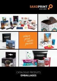 SAXOPRINT Catalogue Produits Emballages (fr-BE)