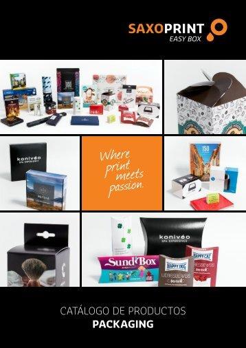 SAXOPRINT Catálogo de Productos Packaging (ES)
