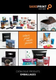 SAXOPRINT Catalogue Produits Emballages (fr-CH)