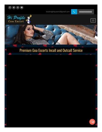 Hi Profile Goa Escort | Goa Escorts Service