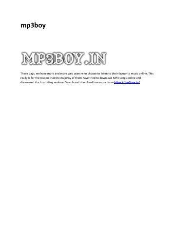 6 mp3 boy