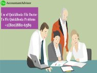 Fix QuickBooks File Doctor Not Working Problem [Solved]