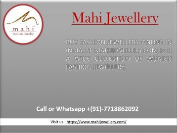 Buy Swarovski jewellery online Through Mahi Jewellery-converted