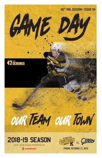 Kingston Frontenacs GameDay October 12, 2018