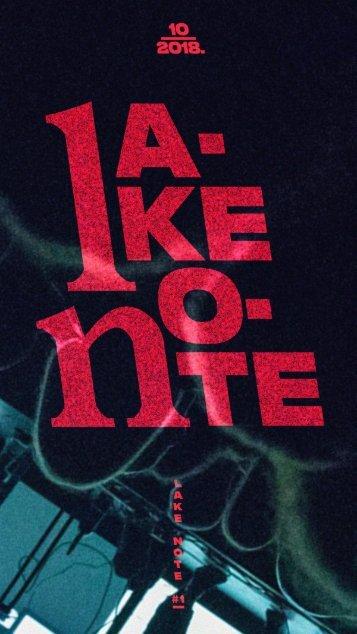 LAKE NOTE #1