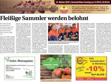 16. Kastanienfest Rheinberg  -12.10.2018-