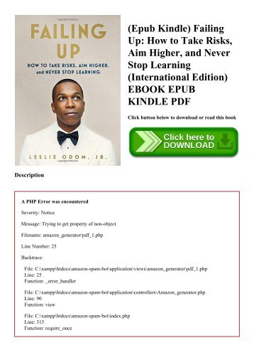 (Epub Kindle) Failing Up How to Take Risks  Aim Higher  and Never Stop Learning (International Edition) EBOOK EPUB KINDLE PDF