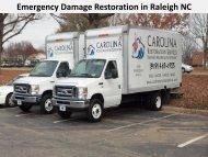 Emergency Damage Restoration in Raleigh NC