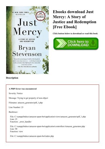 Ebooks download Just Mercy A Story of Justice and Redemption [Free Ebook]
