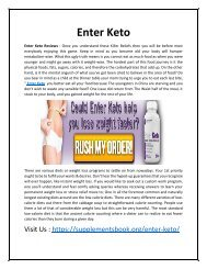 Enter Keto - Make You Slim and Trim in a Short Ammount of Time