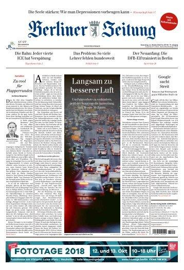 Berliner Zeitung 11.10.2018