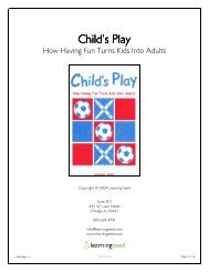 Child's Play Child's Play - Learning Seed