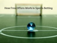 How Free Offers Work in Sports Betting