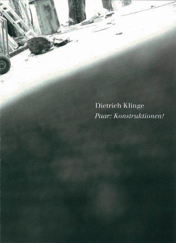 Dietrich Klinge - Paar: Konstruktionen!