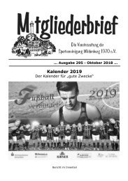 Ausgabe 295 - Oktober 2018