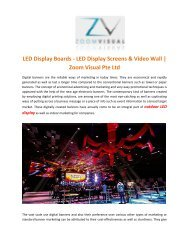Curve & Flexible LED Screens and Display Boards - Zoom Visual