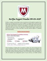 McAfee Antivirus Helpline Number 0800-014-8285  McAfee Antivirus Support UK