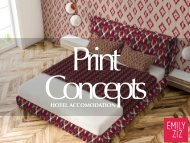 Print Concepts for Hotel Accomodation