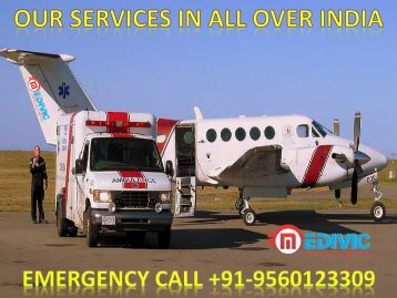 ICU Care Air Ambulance Service in Kolkata and Bagdogra by Medivic Aviation