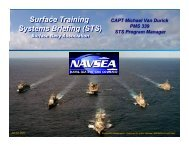 Surface Training Systems Briefing - Naval Sea Systems Command