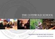 The Cotswold School - Stretch and Challenge - Highly Able