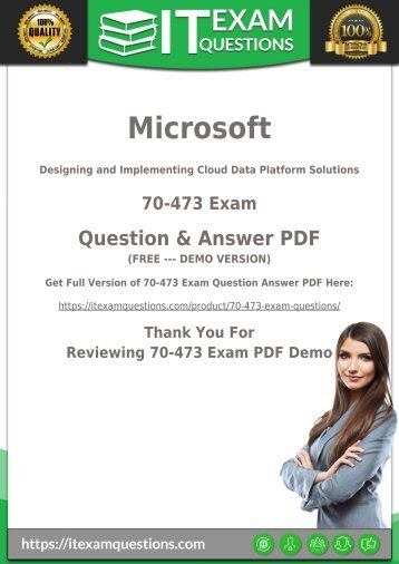 Real 70-473 Dumps PDF [2018] Actual 70-473 Exam Questions