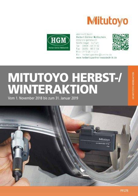 Mitutoyo Herbst-/Winteraktion 2018/2019
