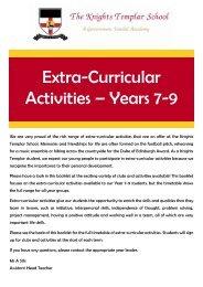 Extra-Curricular Booklet - KTS Autumn 2018