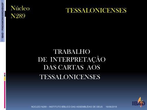 Carta aos Tessalonissenses IBAD