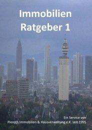 Immobilien-Ratgeber 1 - Entscheidungshilfe - 18 wichtige Fragen - Sylvia Pieroth - Pieroth Immobilien Obertshausen