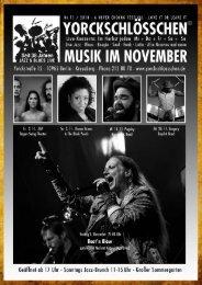November Programm