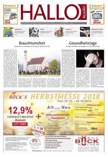 Hallo-Allgäu Kaufbeuren, Ostallgäu vom Samstag, 13.Oktober