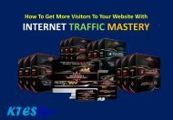 How To Get More Visitors To Your Website With Internet Traffic Mastery